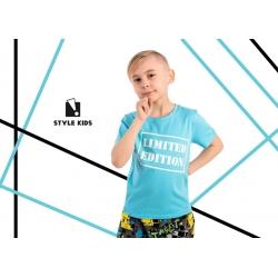 Žydros spalvos, medvilniniai marškinėliai