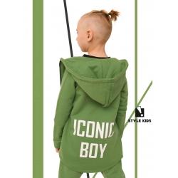 Prailgintas, žalias medvilninis džemperis