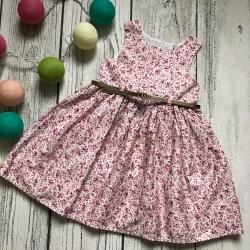 Gėlėta suknelė, be rankovių